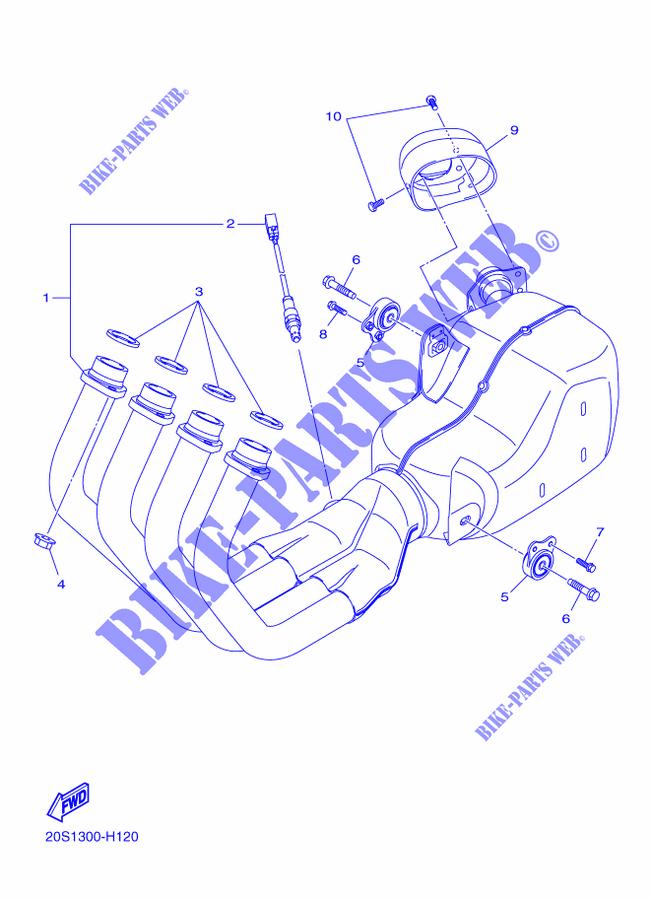 auspuff xj6n xj6 xj6 2009 600 moto yamaha motorrad. Black Bedroom Furniture Sets. Home Design Ideas