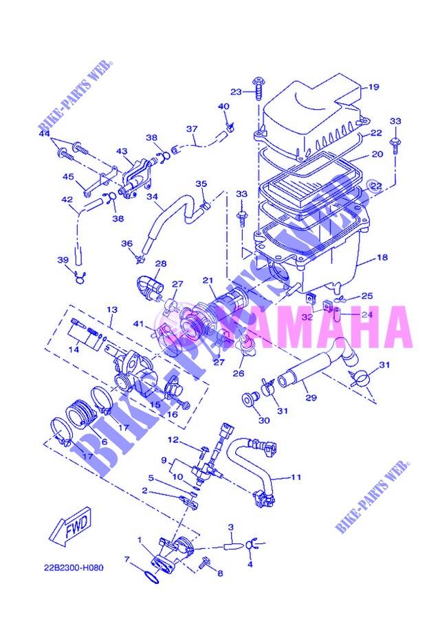 einlass f r yamaha wr 125 x 2013 yamaha online. Black Bedroom Furniture Sets. Home Design Ideas