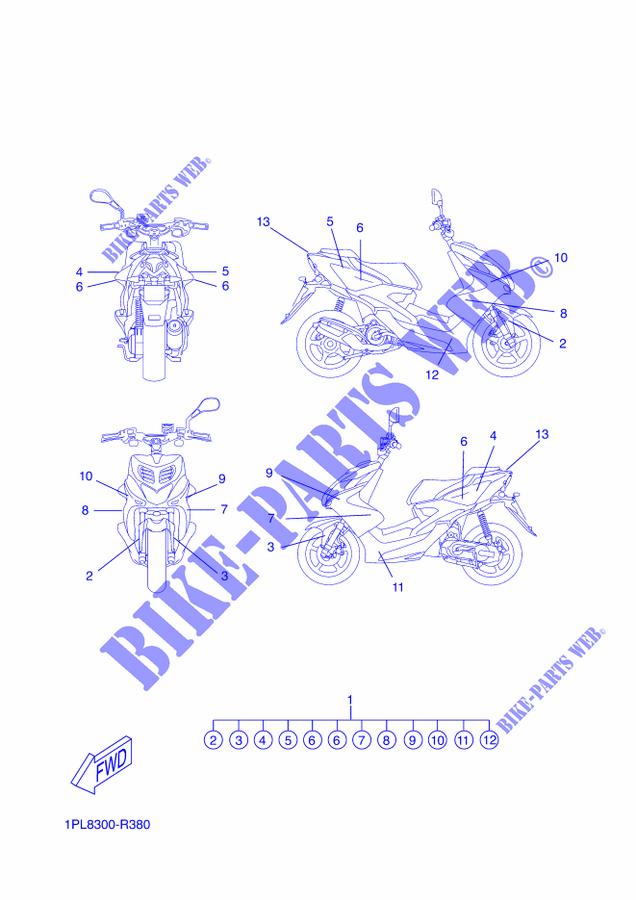 Aufkleber Für Yamaha Aerox 50 Naked 2016 Yamaha Online