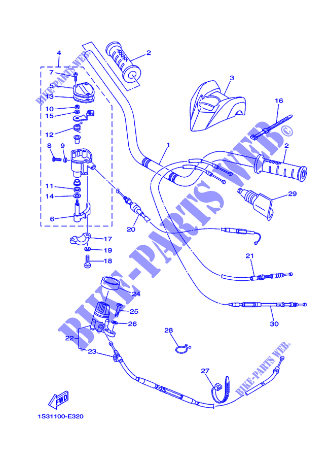 LENKER KABEL YFM700RYFM700RV RAPTOR 2006 700 QUAD Yamaha motorrad #