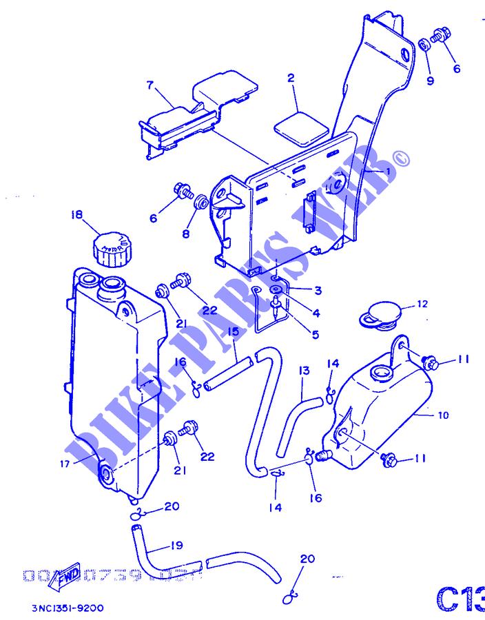 benzintank dt125 dt 1989 125 moto yamaha motorrad yamaha. Black Bedroom Furniture Sets. Home Design Ideas