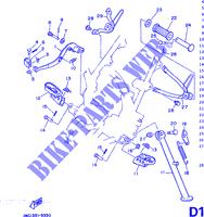 noir 07 soufflets Yamaha dT125 r 1990